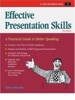 Cover image for Effective presentations