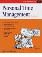 Cover image for Personal time management