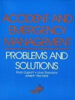 Cover image for Accident and emergency management : problems and solutions