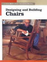Cover image for Designing and building chairs