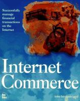 Cover image for Internet commerce