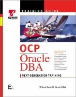 Cover image for OCP Oracle DBA training guide