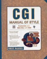 Cover image for CGI manual of style