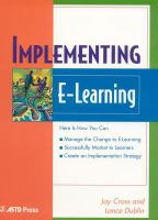 Cover image for Implementing e-learning
