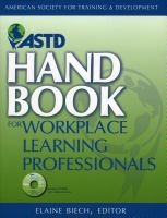Cover image for ASTD handbook for workplace learning professionals[electronic resource]