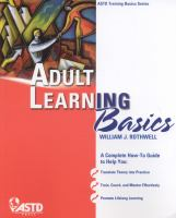 Cover image for Adult learning basics