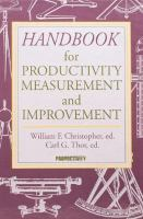 Cover image for Handbook for productivity measurement and improvement