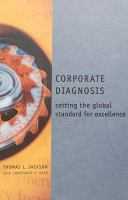 Cover image for Corporate diagnosis : setting the global standard for excellence