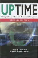 Cover image for Uptime : strategies for excellence in maintenance management