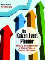 Cover image for The Kaizen event planner : achieving rapid improvement in office, service, and technical environments