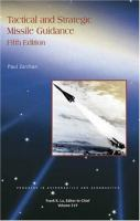 Cover image for Tactical and strategic missile guidance