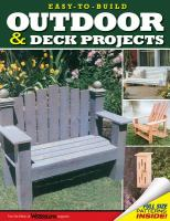 Cover image for Easy-to-build outdoor and deck projects