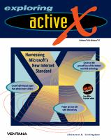 Cover image for Exploring ActiveX : Harnessing Microsoft's New Internet Standard