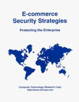 Cover image for E-commerce security strategies : protecting the enterprise