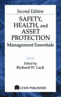 Cover image for Safety, health, and asset protection :  management essentials