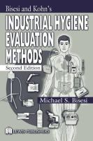 Cover image for Bisesi and Kohns industrial hygiene evaluation methods