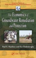 Cover image for The economics of groundwater remediation and protection