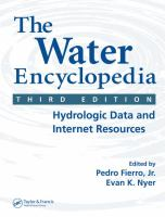 Cover image for The water encyclopedia : hydrologic data and Internet resources