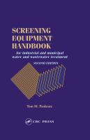 Cover image for Screening equipment handbook : for industrial and municipal water and wastewater treatment