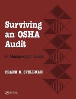 Cover image for Surviving an OSHA audit :  a management guide