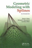 Cover image for Geometric modeling with splines : an introduction
