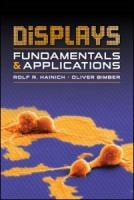 Cover image for Displays : fundamentals & applications