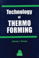 Cover image for Technology of thermoforming