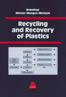 Cover image for Recycling and recovery of plastics