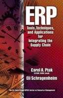 Cover image for ERP : tools, techniques and applications for integrating the supply chain