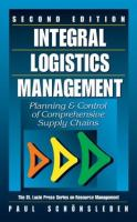 Cover image for Integral logistics management :  planning & control of comprehensive business process