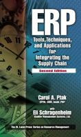 Cover image for ERP tools, techniques and applications for integrating the supply chain