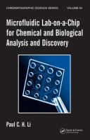 Cover image for Microfluidic lab-on-a-chip for chemical and biological analysis and discovery