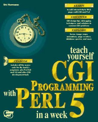 Cover image for Teach yourself CGI programming with Perl in a week