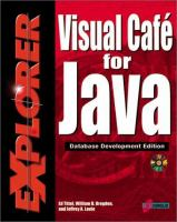 Cover image for Visual cafe for Java : database development edition