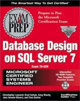 Cover image for MCSE database design on SQL server 7 exam prep