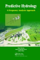 Cover image for Predictive hydrology : a frequency analysis approach