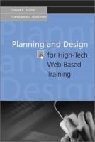 Cover image for Planning and design for high-tech web-based training