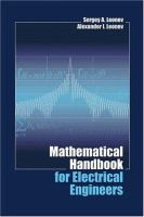 Cover image for Mathematical Handbook For Electrical Engineers