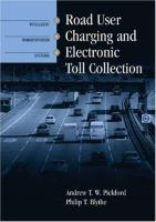 Cover image for Road user charging and electronic toll collection