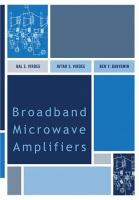 Cover image for Broadband microwave amplifiers