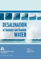 Cover image for Desalination of seawater and brackish water