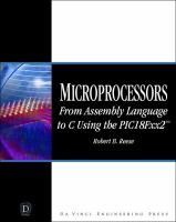 Cover image for Microprocessors : from assembly language to C using the PIC18Fxx2