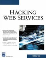 Cover image for Hacking web services