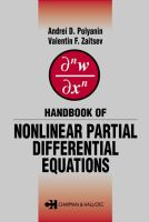 Cover image for Handbook of nonlinear partial differential equations