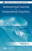Cover image for Semisupervised learning in computational linguistics
