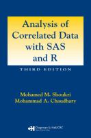 Cover image for Analysis of correlated data with SAS and R