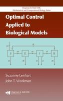 Cover image for Optimal control applied to biological models