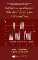 Cover image for Exact solutions and invariant subspaces of nonlinear partial differential equations in mechanics and physics