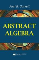 Cover image for Abstract algebra