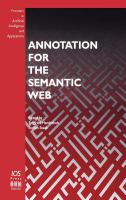 Cover image for Annotation for the semantic web